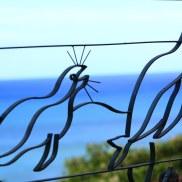 Bent Steel Garden Art Seals