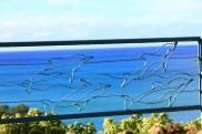 Bent Steel Garden Art Dolphins