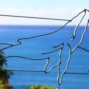 Bent Steel Garden Art Whale