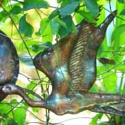 Outdoor copper art - crane by Sooriya Kumar