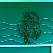 Bent steel outdoor wall art by Sooriya Kumar