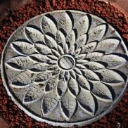 Lotus paver art 1 by Sooriya Kumar