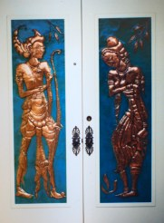 Rama and Sita double door