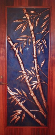 Copper Bamboo Door