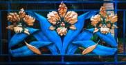 Large Triple Flower Gate (detail)