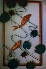 Copper Koi Pond Wall Art by Sooriya Kumar