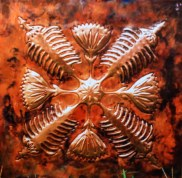 large copper panel Art by Sooriya Kumar