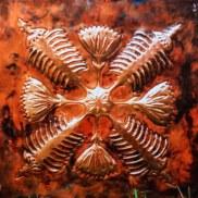 large copper panel Art by Sooriya Kumar