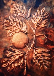 Copper Breadfruit Wall Art by Sooriya Kumar