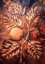 Copper Breadfruit Wall Art by Sooriya Kumar