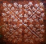 Large Copper Hawai'ian Quilt Wall Art