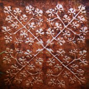 Large Copper Hawai'ian Quilt Wall Art