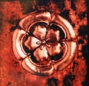 Copper Hibiscus Panel Art by Sooriya Kumar