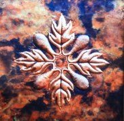 Copper Hawai'ian Quilt Panel Art by Sooriya Kumar