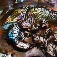 Copper Lehua Flower Art by Sooriya Kumar