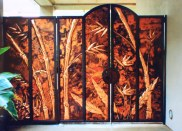 Stunning copper bamboo panels and gate.