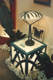 Sacred Hawai'ian Fern Lamp and side table