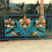Large Copper Hawaiian Triple Flower Main Gate