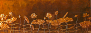 Large Lotus Copper panel Wall Art by Sooriya Kumar