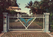 Large Dolphin Main Entrance gate