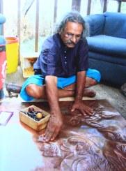 Sooriya Working on Copper